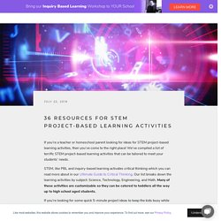 36 Resources for STEM Project-Based Learning Activities