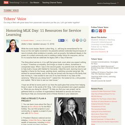 11 Resources For Service Learning