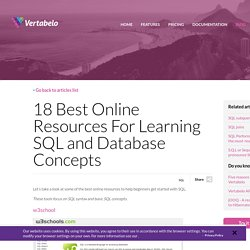 18 best online resources for learning sql and database concepts