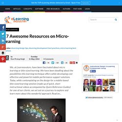 17 Awesome Resources on Micro-Learning
