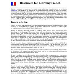 Resources for Learning French