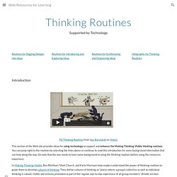 Web Resources for Learning - Thinking Routines