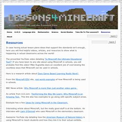 Lessons for Minecraft