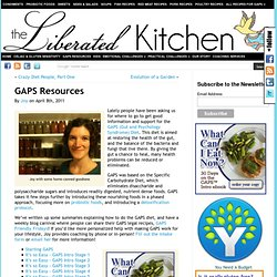 GAPS Resources | The Liberated Kitchen, LLC
