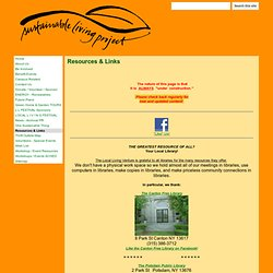 Sustainable Living Project Resources