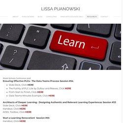 Resources - LISSA PIJANOWSKI
