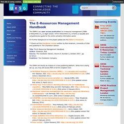 The E-Resources Management Handbook