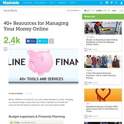 40+ Resources for Managing Your Money Online
