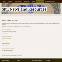 Shii News and Resources » Manuscript and book sites