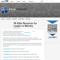 56 Killer Resources for Leaders in Ministry - ProjectYM.com - Catholic Youth Ministry Resources