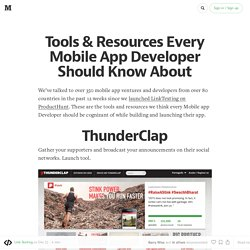 Tools & Resources Every Mobile App Developer Should Know About
