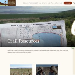 Trail Resources - Oregon Natural Desert Association