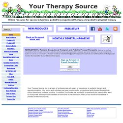 Your Therapy Source - resources for school based occupational therapy and physical therapy