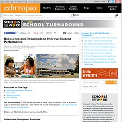 Resources and Downloads to Improve Student Performance