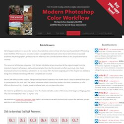 Private Resources - Modern Photoshop Color Workflow