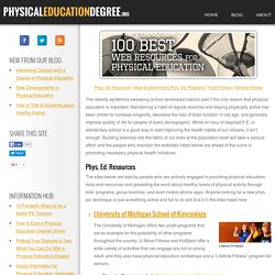 Top 100 Web Resources for Physical Education: Physical Education Degree