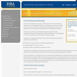 HBA Consulting - Human Resources Training & Planning