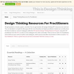 Design Thinking Resources For Practitioners