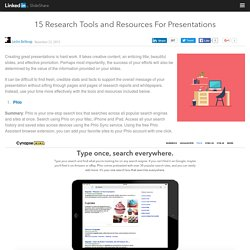 15 Research Tools and Resources For Presentations