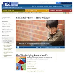 s Bully Free: It Starts With Me — Resources to Prevent Bullying