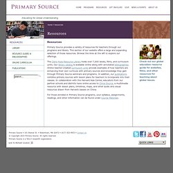 Resources - Primary Source