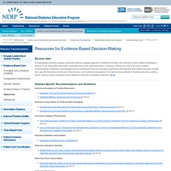 Diabetes Resources for Health Care Professionals