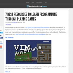 7 Best Resources To Learn Programming Through Playing Games