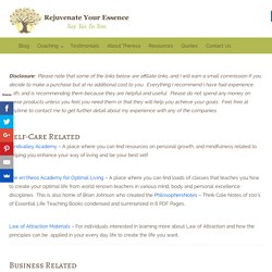 Resources - Rejuvenate Your Essence