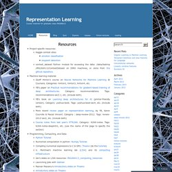 Representation Learning