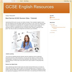 GCSE English Resources: Best Service GCSE Revision Sites - Tuitionkit