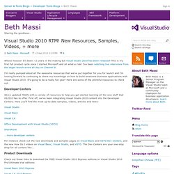 Visual Studio 2010 RTM! New Resources, Samples, Videos, + more - Beth Massi - Sharing the goodness that is VB