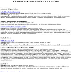 Resources for Kansas Science & Math Teachers