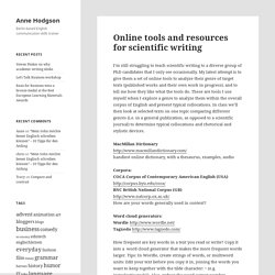 Online tools and resources for scientific writing