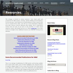 Resources - SCOTT G. CHAPLOWE