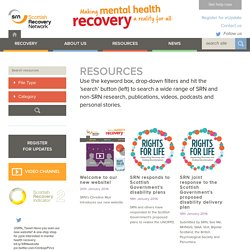 Resources « Scottish Recovery Network