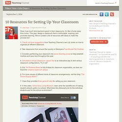 10 Resources for Setting Up Your Classroom