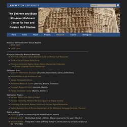 Resources - The Sharmin and Bijan Mossavar-Rahmani Center for Iran and Persian Gulf Studies