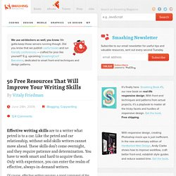 50 Free Resources That Will Improve Your Writing Skills
