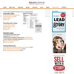 Lead With a Story Resources