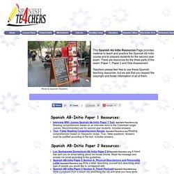 IB Spanish Ab Initio Resources - Spanish4Teachers.org
