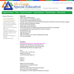 Tri-County Special Education