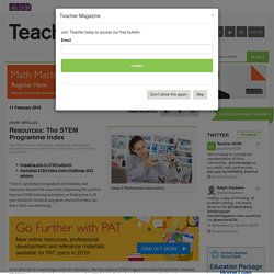 Resources: The STEM Programme Index