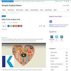 What to Do in New York - ESL Resources for Students & Teachers - Simple English News