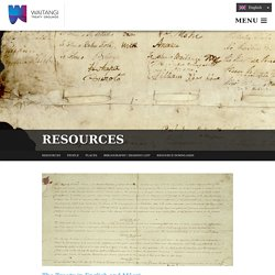 Treaty of Waitangi learning resources - videos, suggested reading, links, downloads