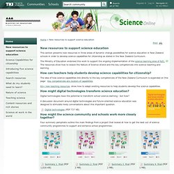New resources to support science education / Home - Science Online