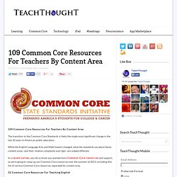109 Common Core Resources For Teachers By Category
