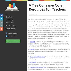 6 Free Common Core Resources for Teachers Always Prepped Blog