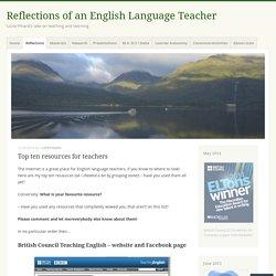 Top ten resources for teachers