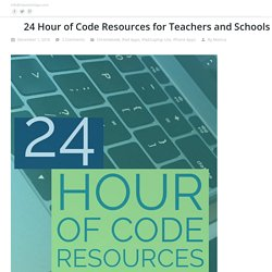 24 Hour of Code Resources for Teachers and Schools
