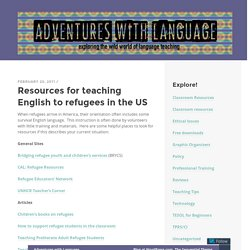 Resources for teaching English to refugees in the US